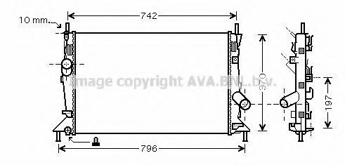 Радиатор охлаждения AVA FDA2370