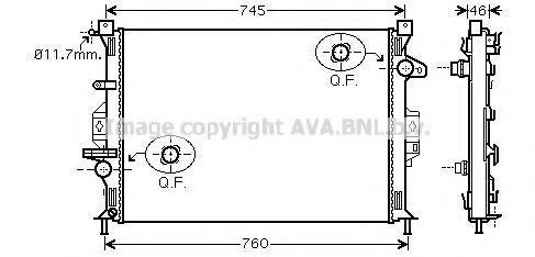 Радиатор охлаждения AVA FDA2421