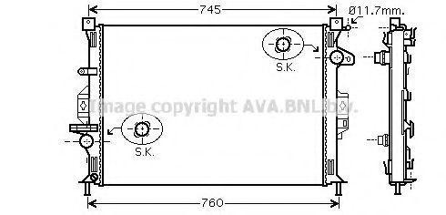 Радиатор охлаждения AVA FDA2422