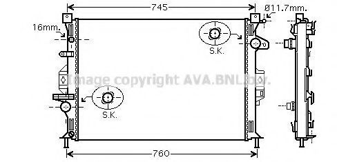 Радиатор охлаждения AVA FDA2425