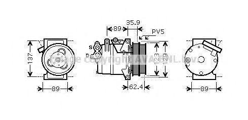Компрессор кондиционера AVA FDK433
