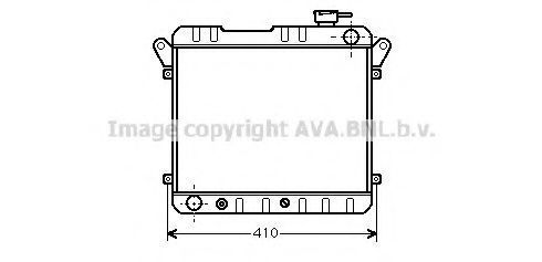 Радиатор, охлаждение двигателя AVA FT2015