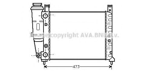 Радиатор, охлаждение двигателя AVA FT2047