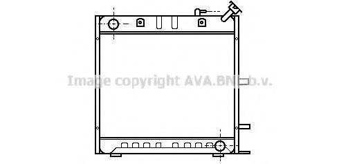 Радиатор, охлаждение двигателя AVA FT2052