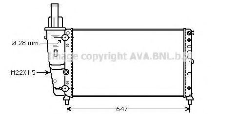 Радиатор охлаждения AVA FT2140