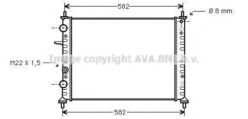 Радиатор охлаждения AVA FT2162
