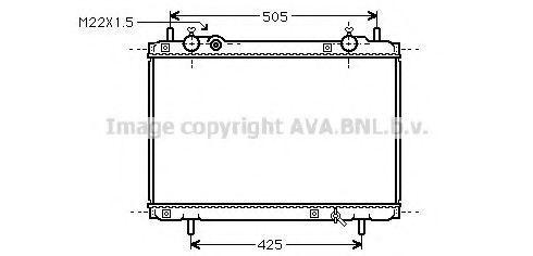 Радиатор охлаждения AVA FT2185