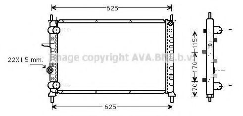 Радиатор охлаждения AVA FT2188