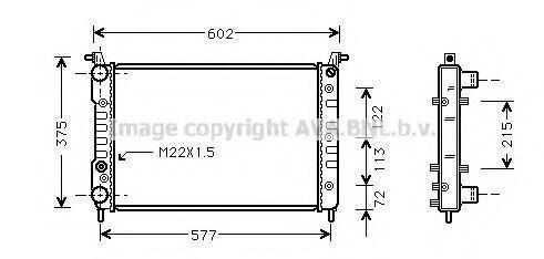 Радиатор охлаждения AVA FT2225