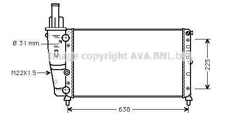 Радиатор охлаждения AVA FT2228