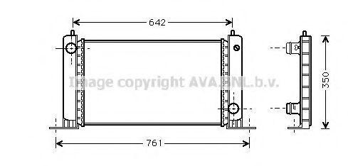 Радиатор охлаждения AVA FT2243