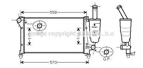 Радиатор охлаждения AVA FT2291