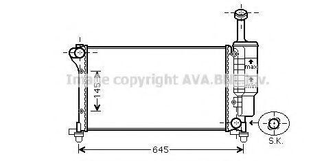 Радиатор охлаждения AVA FT2335