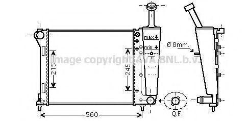 Радиатор охлаждения AVA FT2345