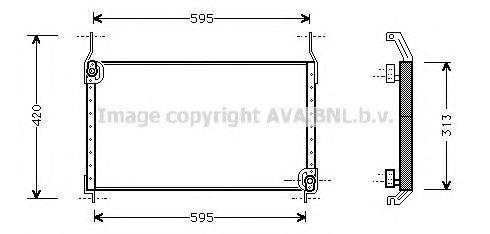 Радиатор кондиционера AVA FT5172