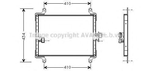 Радиатор кондиционера AVA FT5206