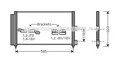Конденсор кондиционера AVA FT5289D