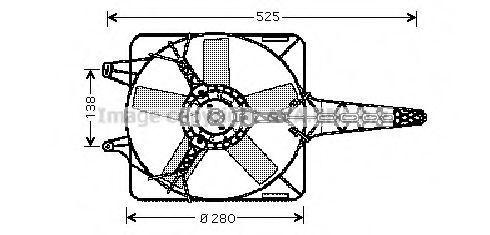 Вентилятор, охлаждение двигателя AVA FT7501
