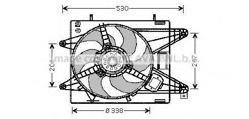 Вентилятор, охлаждение двигателя AVA FT7510