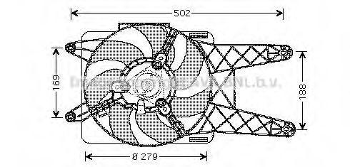 Вентилятор охлаждения радиатора AVA FT7512
