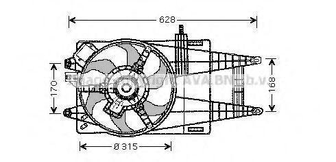 Вентилятор, охлаждение двигателя AVA FT7520
