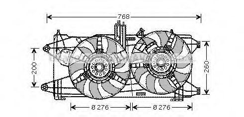 Вентилятор охлаждения двигателя AVA FT7522