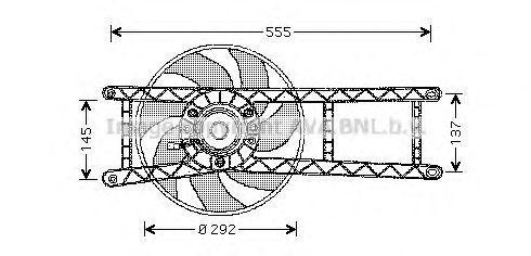 Вентилятор радиатора AVA FT7525