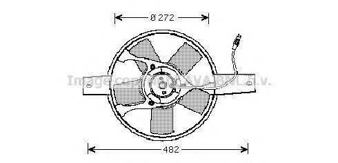 Вентилятор, охлаждение двигателя AVA FT7534