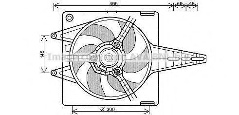 Вентилятор радиатора AVA FT7547