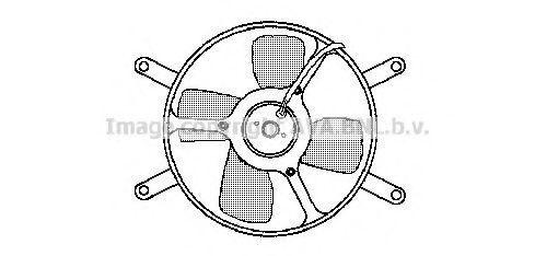 Вентилятор, охлаждение двигателя AVA FT7548