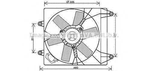 Вентилятор, охлаждение двигателя AVA FT7552