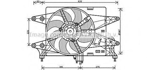 Вентилятор охлаждения двигателя AVA FT7560