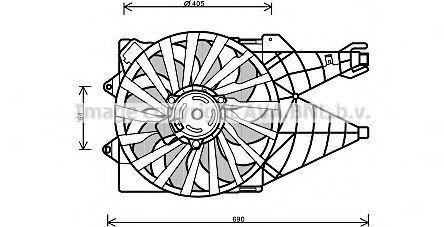 Вентилятор, охлаждение двигателя AVA FT7562