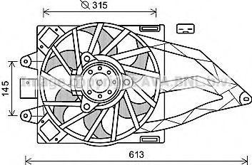 Вентилятор радиатора AVA FT7565
