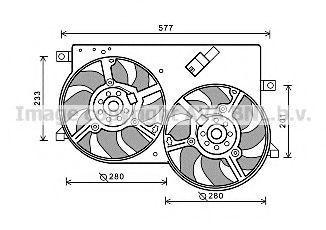 Вентилятор, охлаждение двигателя AVA FT7570