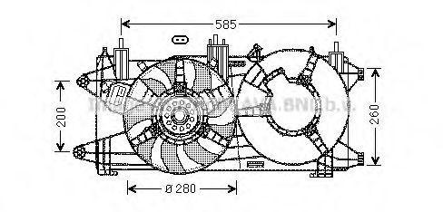 Вентилятор AVA FT7573