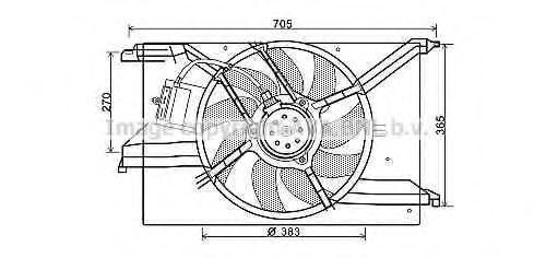 Вентилятор, охлаждение двигателя AVA FT7579