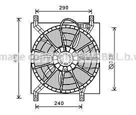 Вентилятор, охлаждение двигателя AVA FT7580