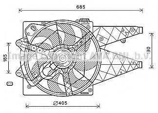 Вентилятор охлаждения радиатора AVA FT7595