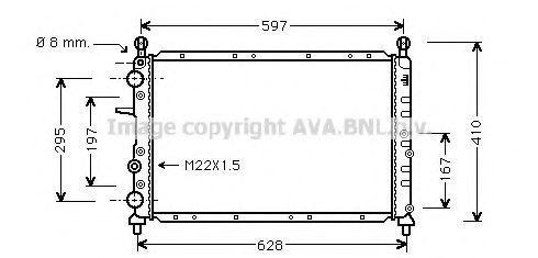 Радиатор охлаждения AVA FTA2095