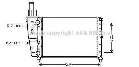 Радиатор охлаждения AVA FTA2138