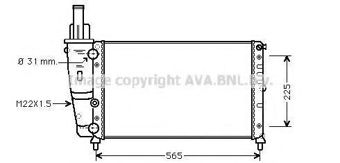 Радиатор охлаждения AVA FTA2139