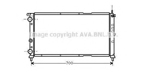 Радиатор охлаждения AVA FTA2143