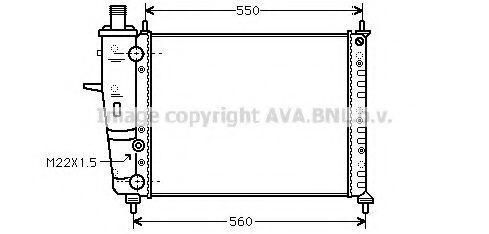 Радиатор охлаждения AVA FTA2159