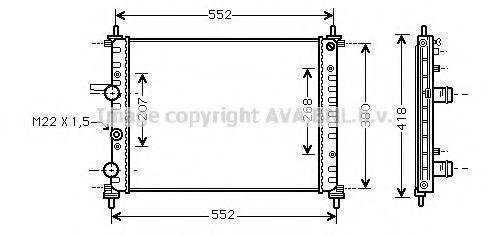 Радиатор охлаждения AVA FTA2182