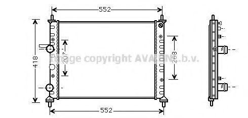 Радиатор охлаждения AVA FTA2201