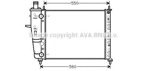 Радиатор охлаждения AVA FTA2230