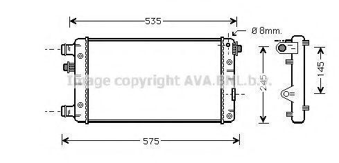 Радиатор охлаждения AVA FTA2239