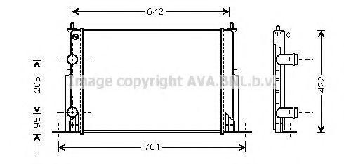 Радиатор охлаждения AVA FTA2244