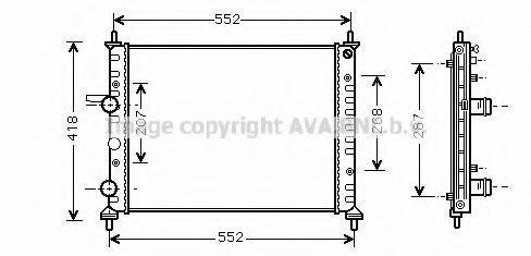Радиатор охлаждения AVA FTA2249